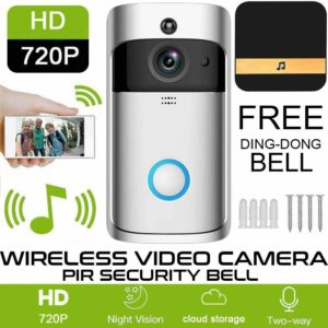 Smart Wireless WiFi Ring Doorbell Security Intercom Video Camera Door Bell